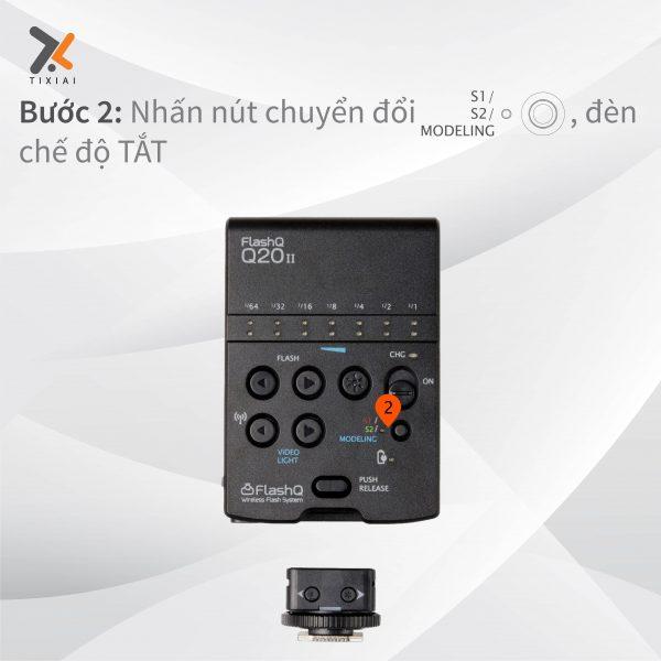 cài đặt chế độ Flash cho đèn FlashQ Q20ii