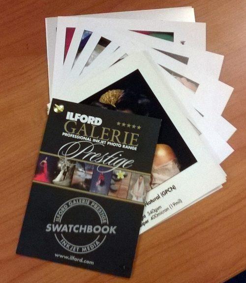 Galerie printed swatchbook A6