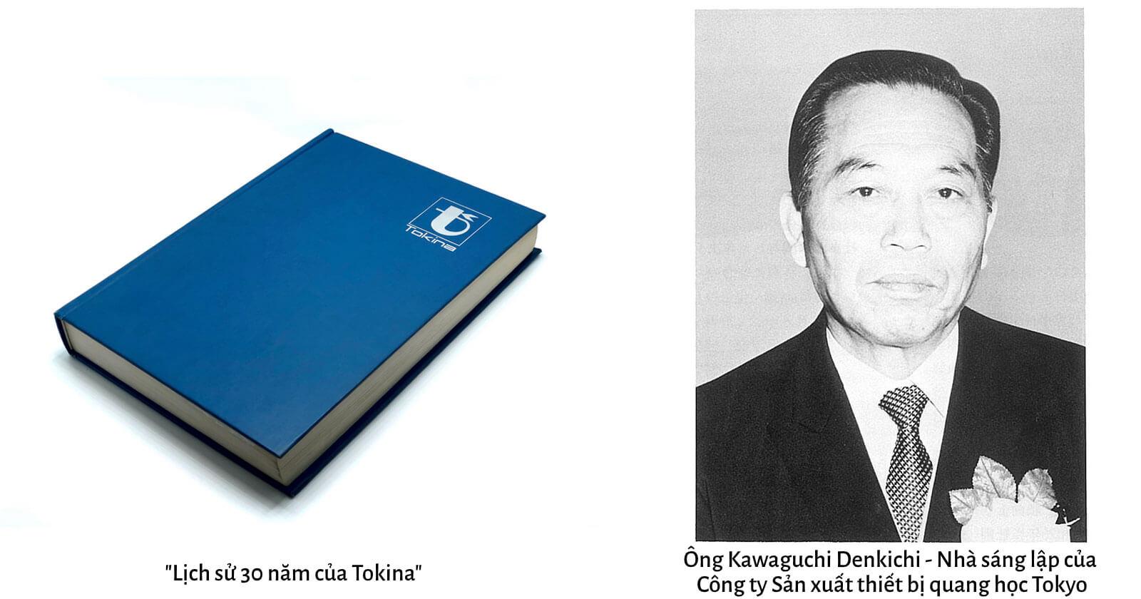Tựa sách lịch sử và nhà sáng lập thương hiệu ống kính Tokina