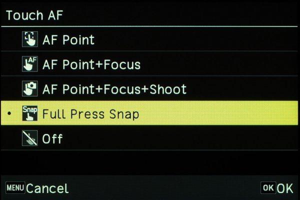 Chức năng Full Press Snap trên bản bản cập nhật firmware GR III phiên bản 1.41