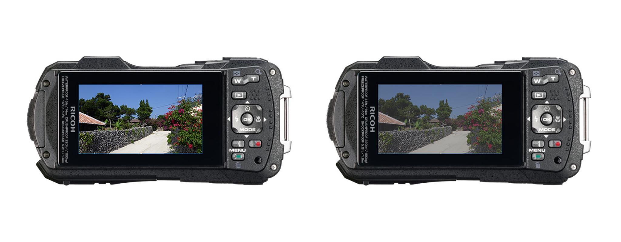 Màn hình máy ảnh chống nước Ricoh WG-70
