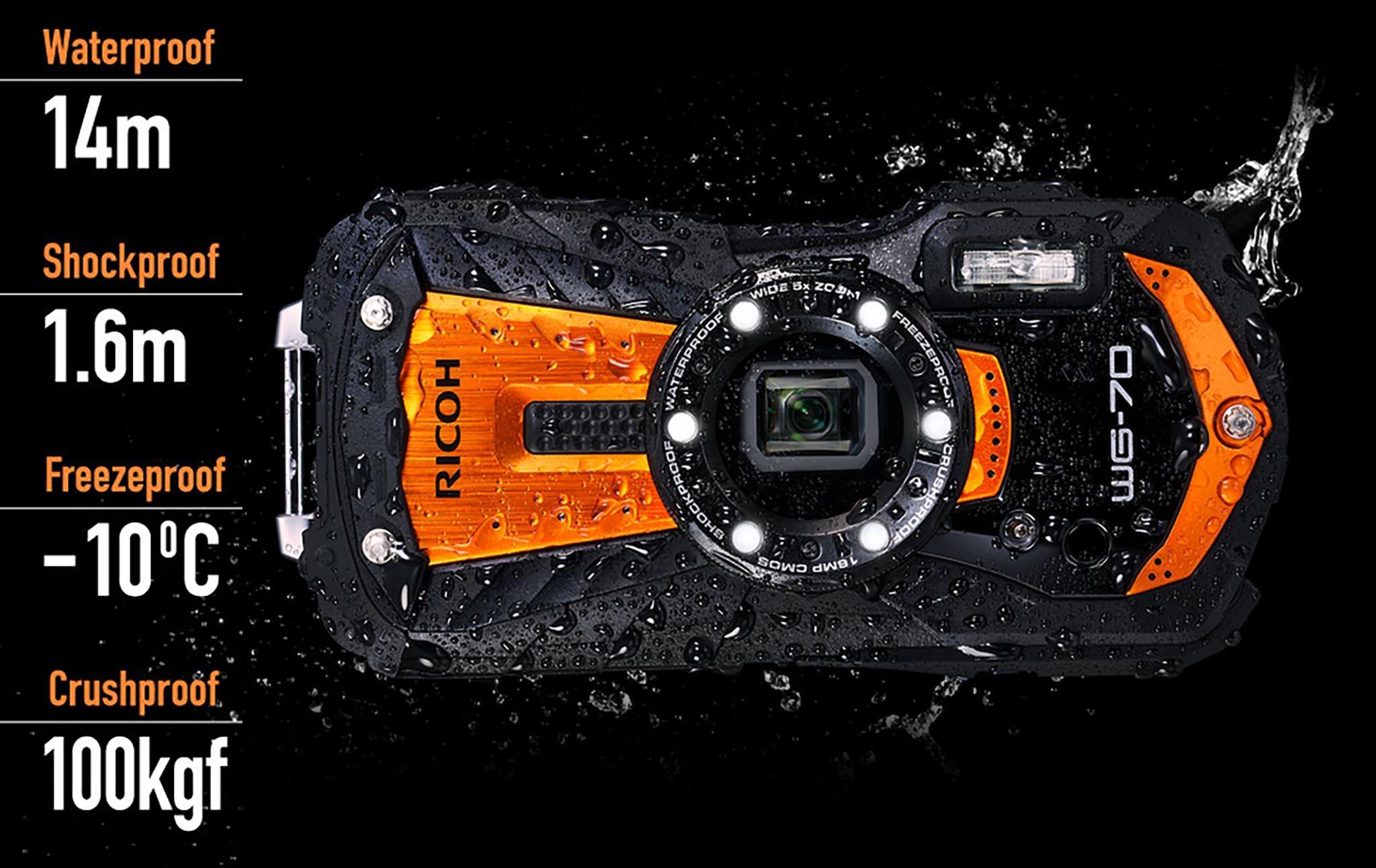 Máy ảnh chống nước WG-70 thách thức thời tiết