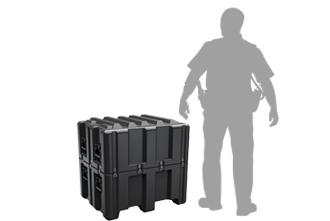 Kích thước thùng bảo vệ chuyên nghiệp Pelican Lid Case al3226-1413 2