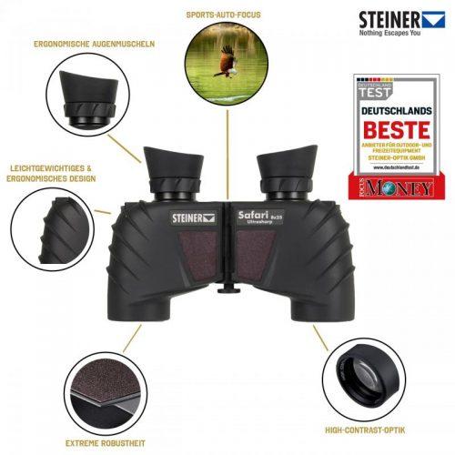Tín năng ống nhòm Steiner Safari UltraSharp 8x25